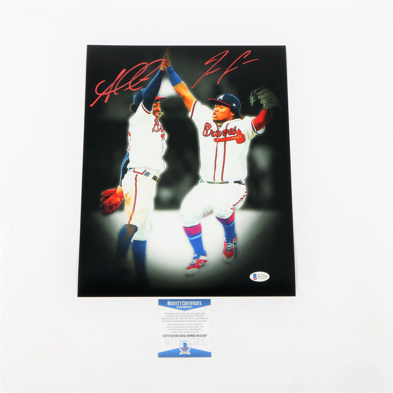 "Ozzie Albies and Ronald Acuna Jr. Signed 11""x14"" Photo Atlanta Braves"