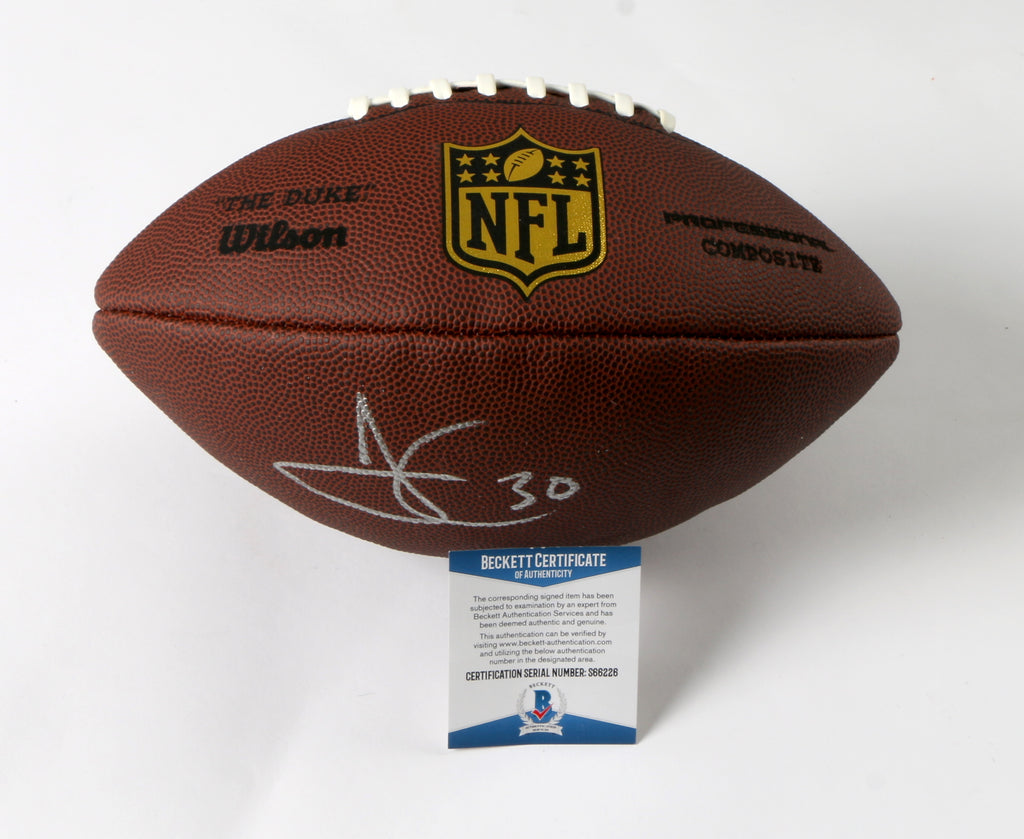 James Conner Signed Football