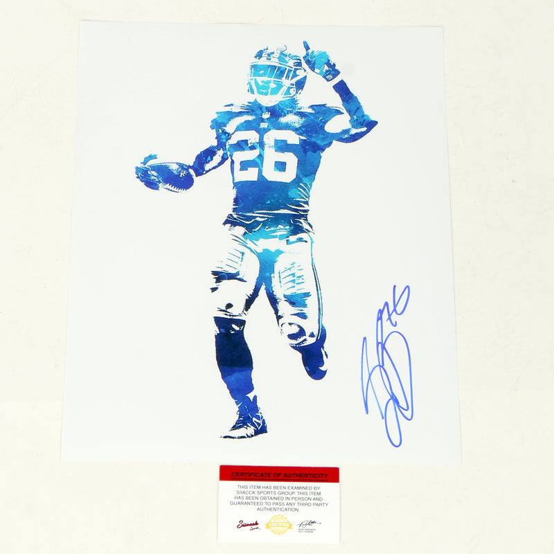 Saquon Barkley Signed 11x14 New York Giants