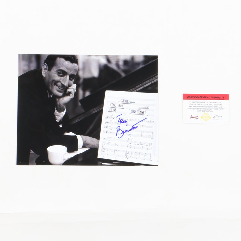 Tony Bennett Signed 8x10 New York Proof