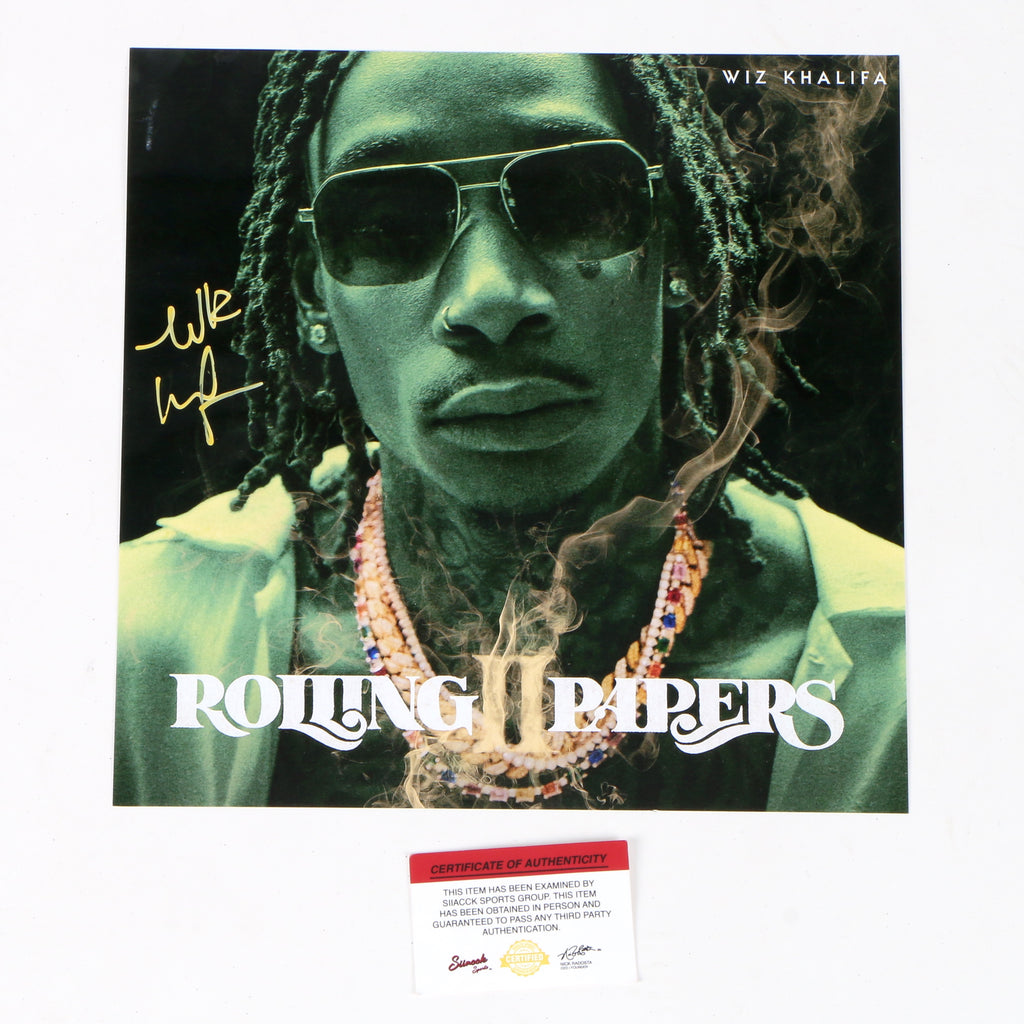 Wiz Khalifa Signed Rolling Papers 2 12x12 Photo