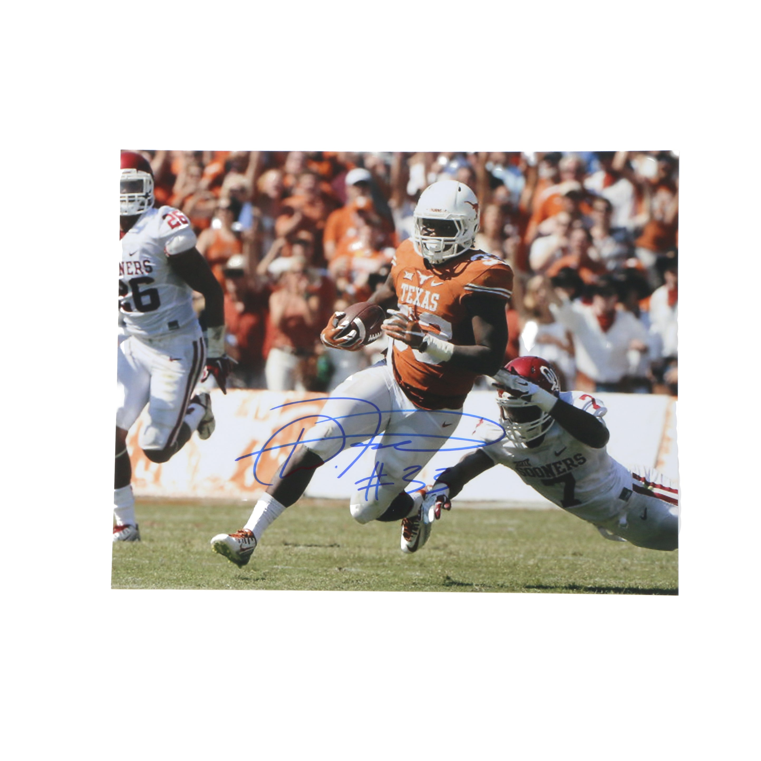 D'onta Foreman Signed 11x14 Photo