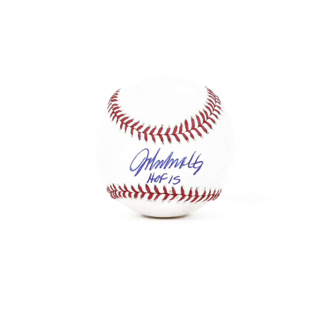 John Smoltz Signed Baseball HOF 15 Inscribed
