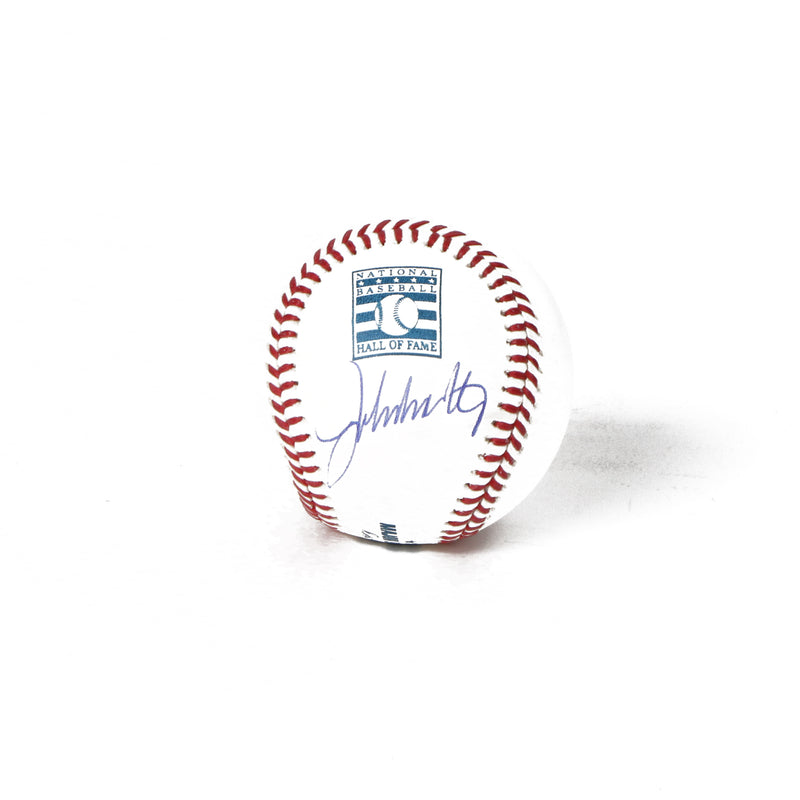 John Smoltz Signed Hall Of Fame Baseball