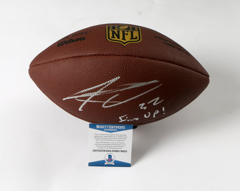 Kenyan Drake Signed Football with Inscription