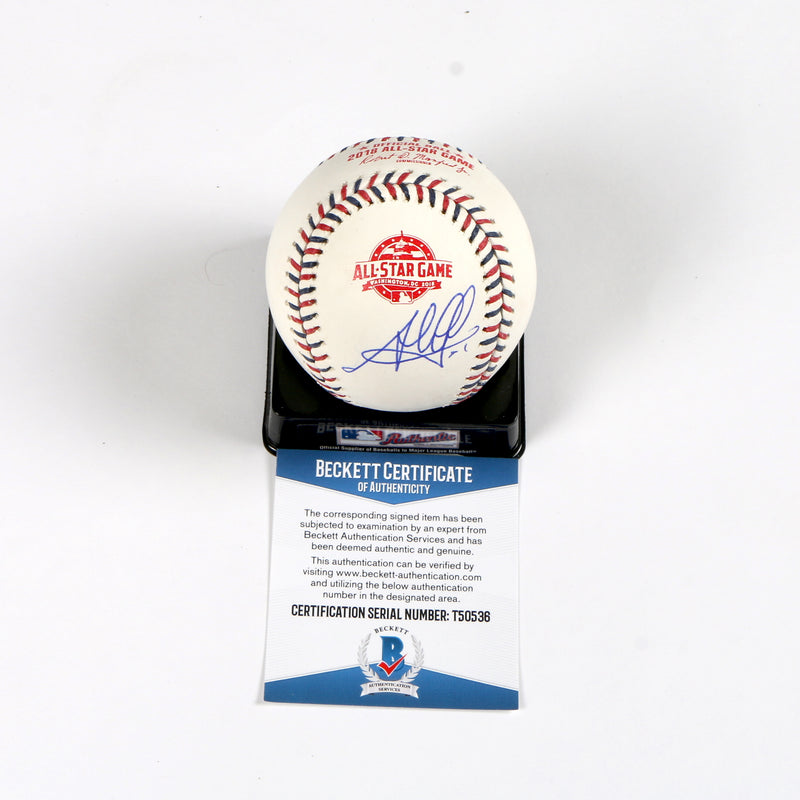 Jesus Aguilar signed 2018 All Star Rawlings OMLB Milwaukee Brewers