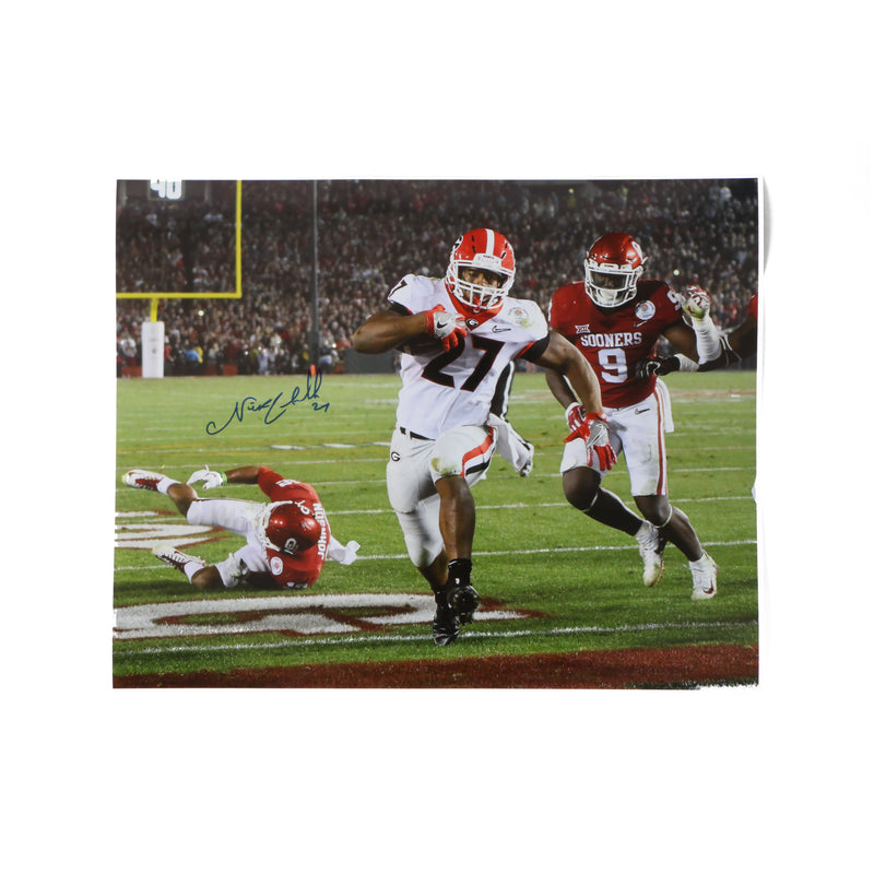 Nick Chubb Signed 16x20 Photo Endzone