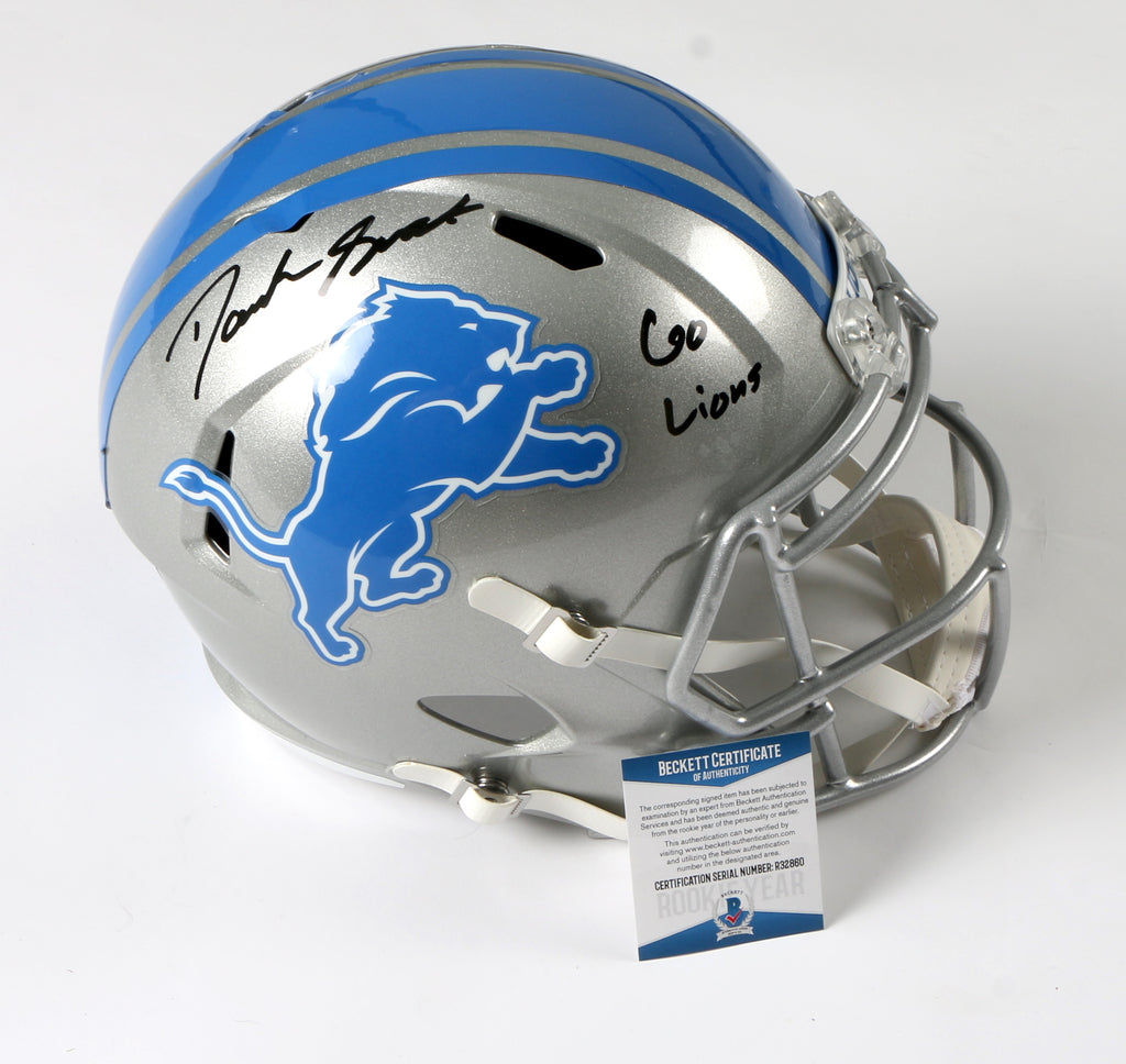 D'Andre Swift Signed Detroit Lions Full Size Helmet with Inscription