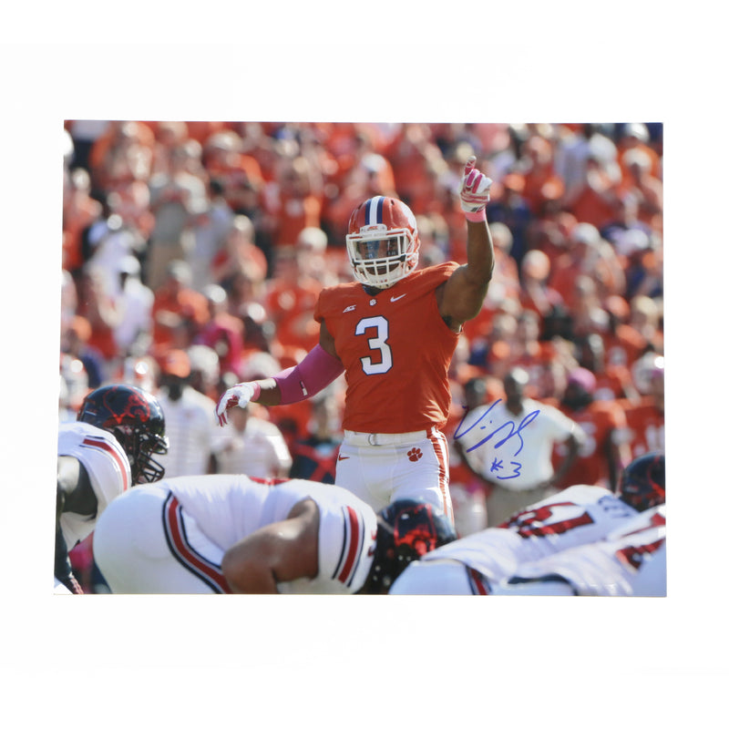 Vic Beasley Signed 11x14 Clemson Tigers