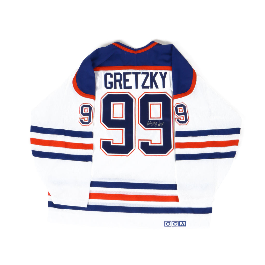 Wayne Gretzky signed Oilers Jersey