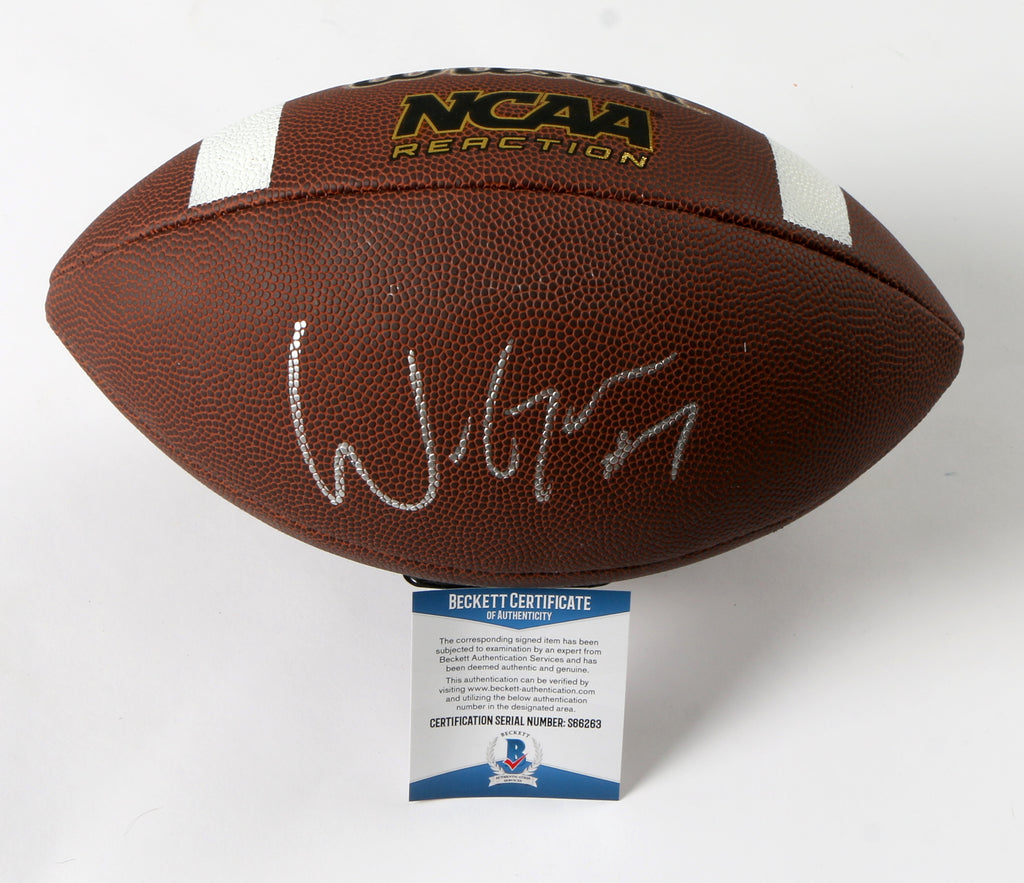 Will Grier Signed Football Carolina Panthers