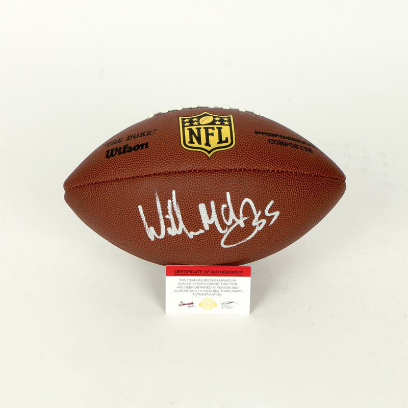 Willie McGinest Signed Football New England Patriots