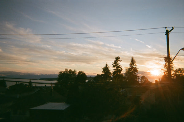 Sunset over Townsite, Powell River
