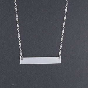 Bar Necklace Engraved