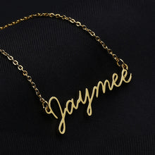 Load image into Gallery viewer, Cursive Font Name Necklaces