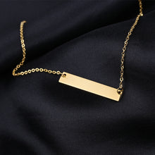 Load image into Gallery viewer, Bar Necklace Engraved