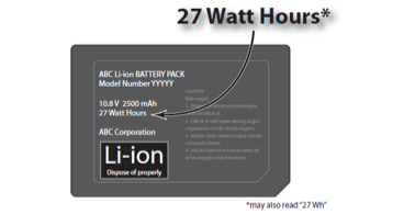 How to calculate Battery Watt-Hour (WH) Rating