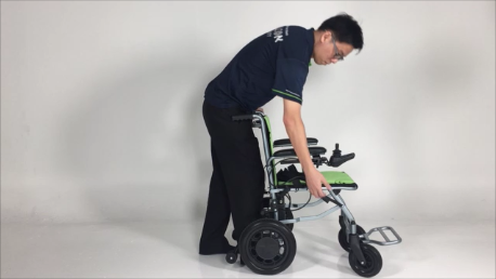 How to fold the Ultra-Lite Electric Wheelchair