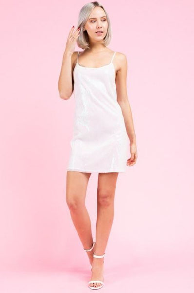 LE LIS - Iridescent Sequin Mini Dress