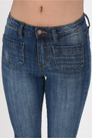 JUDY BLUE - High Waisted Cropped Kick Flare