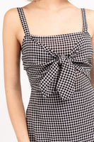 LE LIS - Black Gingham Mini Dress
