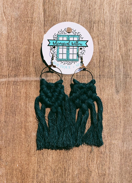Willow Macrame Earrings