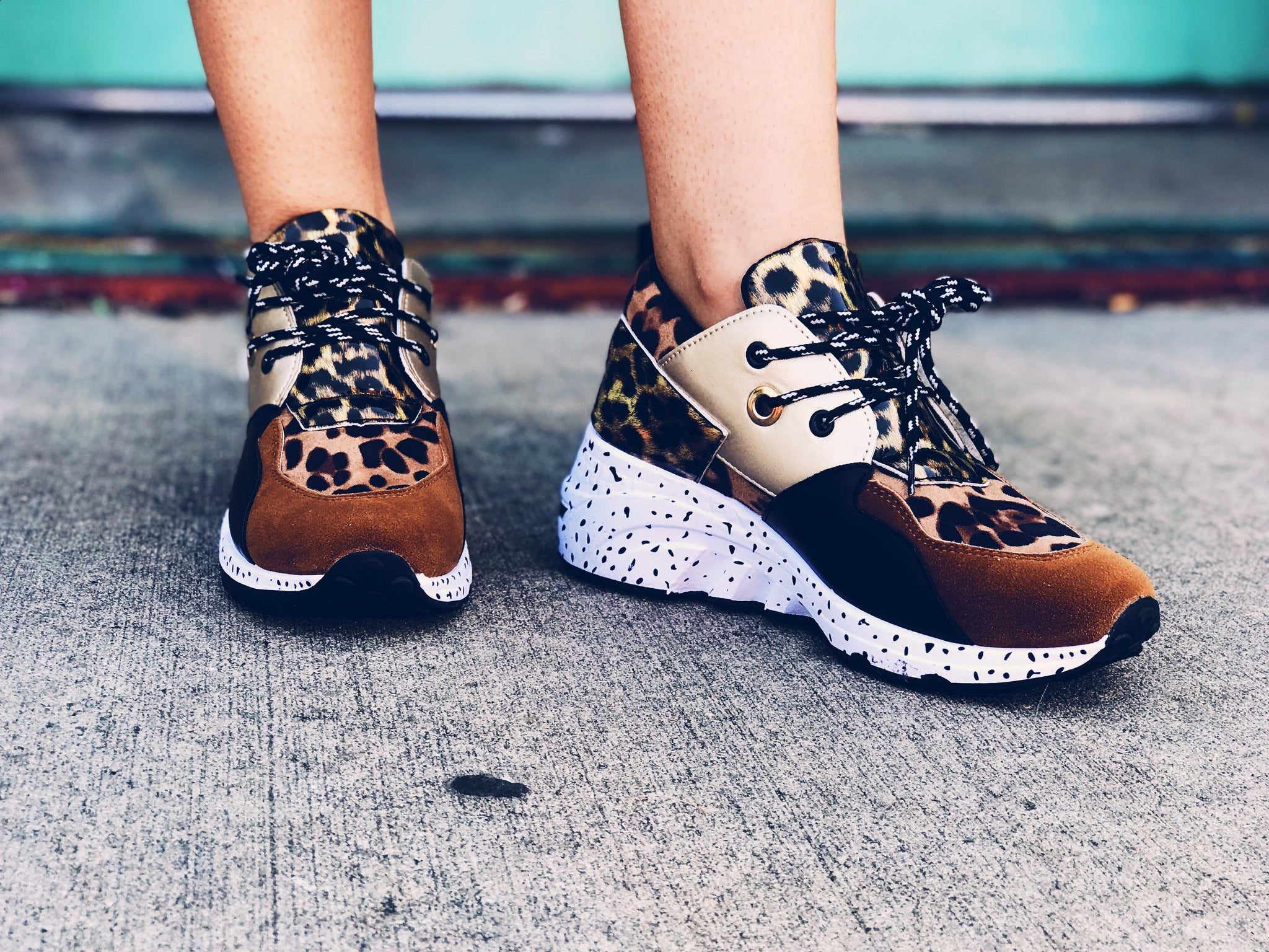 Camel Leopard Cliff Sneakers