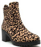 Shoe Addict - Leopard Block Heel Boot