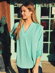 Entro - 3/4 Sleeve V-neck Tunic