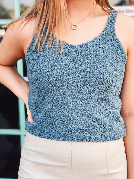 She + Sky - Fuzzy Sweater Tank