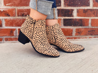 QUPID - Mini Leopard Spotted Booties
