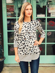 Now & Forever - Leopard & Striped Tunic
