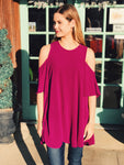 Mary & Mabel - Cold Shoulder Tunic/Dress