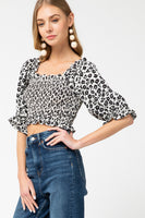 Entro - Floral Smocked Crop Top