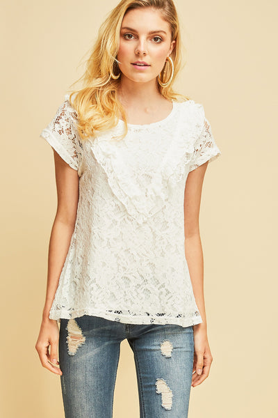 Entro - Ruffled Lace Blouse