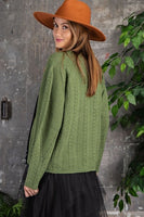 Easel - Ultra Cozy Knitted Crop Cardigan