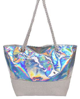 Iridescent Beach Tote Bags