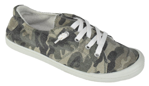 Soda - Slip On Laced Shoes (CAMO & LEOPARD)