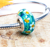 Floral Garden Charm, Murano Glass