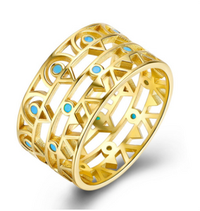 Enchanted Egyptian Treasure Ring, Turquoise