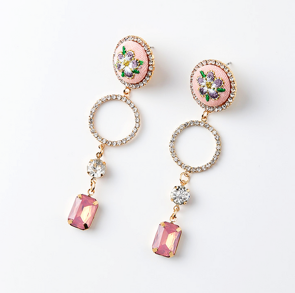 Classical Rose Drop Earrings