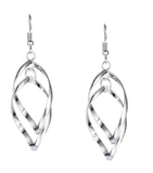 Elegant Spiral Drop Earrings
