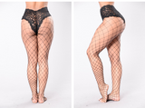 Fishnet Pantyhose - Black