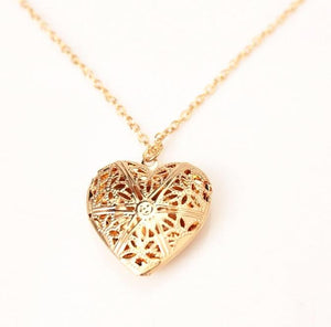 Captured Heart Locket Necklace