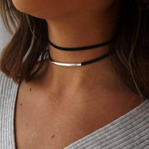 Parisian Gold Black Choker