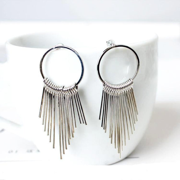 Shooting Tassel Drop Earrings