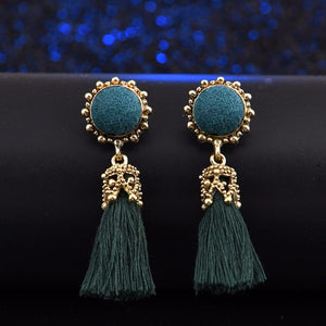 Silk Vintage Tassel Earrings
