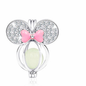 Disney's Mickey Charm, Clear CZ