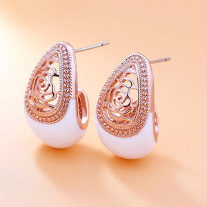 Vintage Allure Earrings™ , Rose Gold
