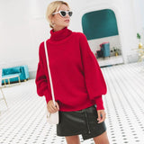 Parisian Turtle Neck Sweater - Red